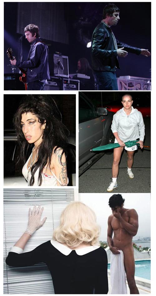 Irmãos do Oasis, Amy, Britney e Madge & G-sus (foto escolhida a dedo)