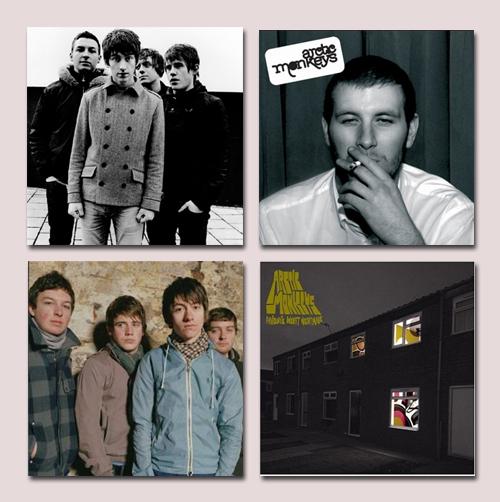Os macaquinhos e os discos até então lançados, Whatever People Say I Am, Thats What Im Not e Favourite Worse Nightmare